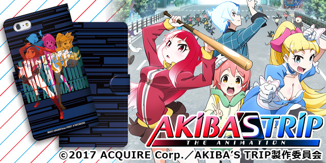 【CROSS-CF限定】AKIBA'S TRIP -THE ANIMATION- 手帳型スマートフォンケース