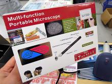 300倍に拡大できるペン型USBマイクロスコープが上海問屋から!