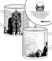 進撃の巨人「超大型巨人Tシャツ」が登場! うなじ下(=巨人の弱点)には攻撃目印、内側には顔をプリント
