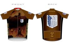 「進撃の巨人」仕様のサイクルウェアがGSRGearから! 10月発売予定、デザインは…