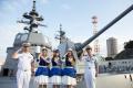 海洋SFアニメ「蒼き鋼のアルペジオ」、横須賀基地で第1話の先行上映会を実施! 約70人の海上自衛隊員が参加