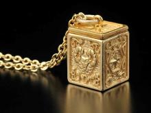 聖闘士星矢、「黄金聖衣箱」ペンダントの予約受付が開始! 第1弾は「牡羊座(アリエス)」モデル