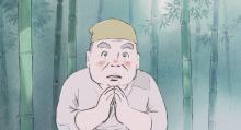 ジブリアニメ「かぐや姫の物語」、地井武男さん演じる「翁」に、影の代役として、三宅裕司さんが出演していたことが明らかに!