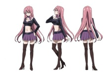 JK暗殺者だらけの学園アニメ「悪魔のリドル」、5人分のキャラ設定画を公開! セクシー系、ロリ系、ボーイッシュ系など