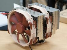 Noctuaの最上位CPUクーラー「NH-D15」が発売に! 14cm口径の大型ファン×2基装備可能