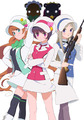 TVアニメ「ユリ熊嵐」、キービジュアルとメインキャストを発表!  「少女革命ウテナ」「輪るピングドラム」の幾原邦彦による新作