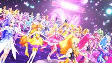 「映画プリキュアオールスターズ 春のカーニバル♪」、本編のダンス映像を公開! 歴代プリキュア総勢40名が迫力のダンス