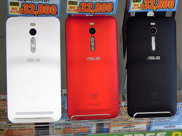 >ASUS製スマホ「ZenFone 2」のミドルレンジモデル「ZE550ML」が登場!