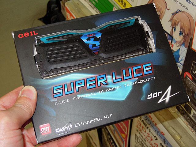 LEDでメモリの温度がわかるDDR4メモリ「SUPER LUCE」がGeILから!