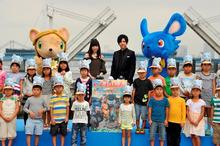 3DCG映画版「ガンバ」、梶裕貴と神田沙也加がウォーターキャノンを大噴射! 完成披露舞台挨拶レポート