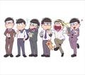 "TVアニメ「おそ松さん」、CD全巻購入特典に""サラリー松""! クズニートな6つ子がスーツを着こなす!?"