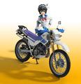 「ばくおん!!」、天野恩紗のフィギュアがバンダイから登場! 愛車「SEROW225W」もセットで