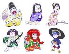 TVアニメ「おそ松さん」、歌舞伎とコラボ! 新規描き起こしイラスト使用のオリジナル商品が続々登場