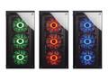 RGB LEDファン搭載のミドルタワーPCケースCORSAIR「Crystal 460X」のサンプルが展示中